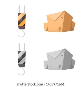 bitmap design of goods and cargo icon. Collection of goods and warehouse stock bitmap illustration.