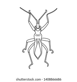 bitmap design of insect and fly icon. Collection of insect and element bitmap icon for stock.