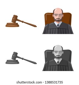bitmap design of law and lawyer icon. Set of law and justice stock bitmap illustration.