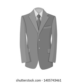 bitmap design of man and clothing icon. Collection of man and wear stock bitmap illustration.