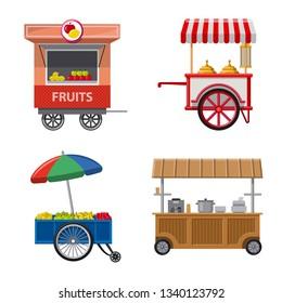 bitmap design of market and exterior symbol. Collection of market and food bitmap icon for stock.