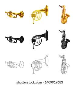 bitmap design of music and tune icon. Collection of music and tool bitmap icon for stock.