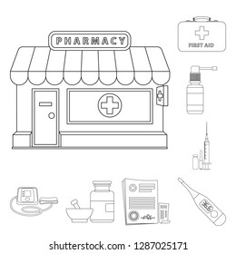 bitmap design of pharmacy and hospital icon. Collection of pharmacy and business stock bitmap illustration.