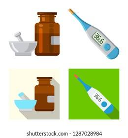 bitmap design of pharmacy and hospital symbol. Collection of pharmacy and business bitmap icon for stock.