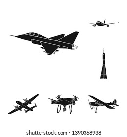 bitmap design of plane and transport icon. Collection of plane and sky stock bitmap illustration.