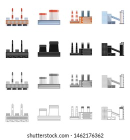 bitmap design of production and structure symbol. Collection of production and technology stock symbol for web.