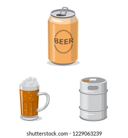 bitmap design of pub and bar sign. Set of pub and interior stock bitmap illustration.