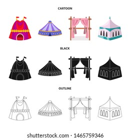 bitmap design of roof and folding icon. Set of roof and architecture stock bitmap illustration.