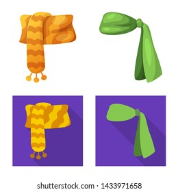 bitmap design of scarf and shawl icon. Set of scarf and accessory bitmap icon for stock.