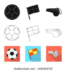 bitmap design of soccer and gear logo. Collection of soccer and tournament bitmap icon for stock.