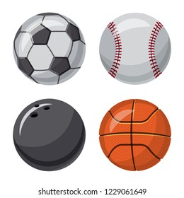 bitmap design of sport and ball icon. Collection of sport and athletic stock bitmap illustration.