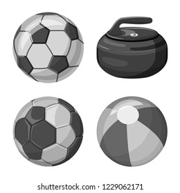 bitmap design of sport and ball logo. Collection of sport and athletic bitmap icon for stock.