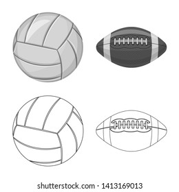 bitmap design of sport and ball symbol. Collection of sport and athletic bitmap icon for stock.