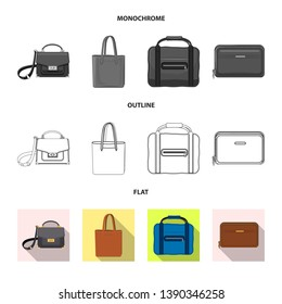 bitmap design of suitcase and baggage sign. Collection of suitcase and journey stock bitmap illustration.