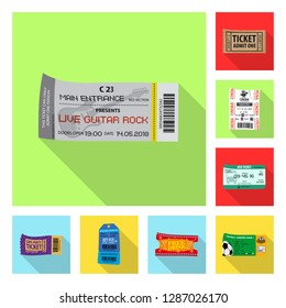 bitmap design of ticket and admission symbol. Collection of ticket and event stock bitmap illustration.