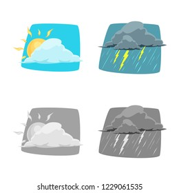 bitmap design of weather and climate icon. Collection of weather and cloud bitmap icon for stock.