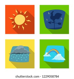 bitmap design of weather and climate logo. Set of weather and cloud bitmap icon for stock.