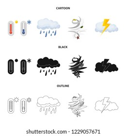 bitmap design of weather and climate symbol. Set of weather and cloud stock bitmap illustration.