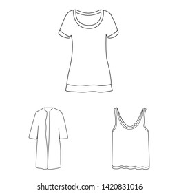Bitmap design of woman and clothing icon. Set of woman and wear stock bitmap illustration.