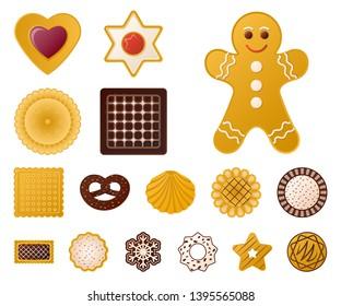 bitmap illustration of biscuit and bake sign. Collection of biscuit and chocolate stock bitmap illustration.