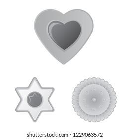 bitmap illustration of biscuit and bake symbol. Collection of biscuit and chocolate bitmap icon for stock.
