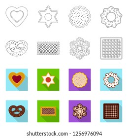 bitmap illustration of biscuit and bake symbol. Set of biscuit and chocolate bitmap icon for stock.