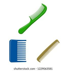 bitmap illustration of brush and hair icon. Set of brush and hairbrush bitmap icon for stock.