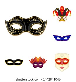 bitmap illustration of carnival and theatrical sign. Set of carnival and mystery bitmap icon for stock.
