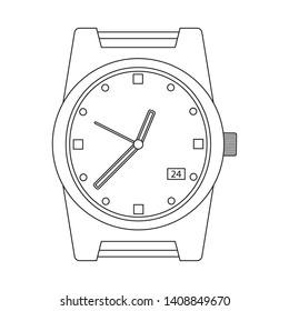 bitmap illustration of clock and time logo. Set of clock and circle stock bitmap illustration.
