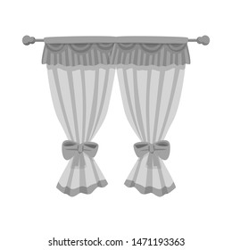 bitmap illustration of curtain and window logo. Collection of curtain and jalousie stock symbol for web.