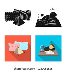 bitmap illustration of dreams and night logo. Set of dreams and bedroom bitmap icon for stock.