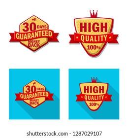 bitmap illustration of emblem and badge sign. Collection of emblem and sticker stock bitmap illustration.