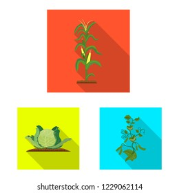 bitmap illustration of greenhouse and plant icon. Collection of greenhouse and garden bitmap icon for stock.