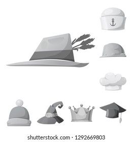 73b467fdd4b bitmap illustration of headwear and cap symbol. Collection of headwear and  accessory stock symbol for