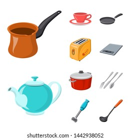 bitmap illustration of kitchen and cook logo. Set of kitchen and appliance stock symbol for web.