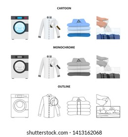bitmap illustration of laundry and clean sign. Set of laundry and clothes stock bitmap illustration.