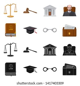 bitmap illustration of law and lawyer logo. Set of law and justice bitmap icon for stock.