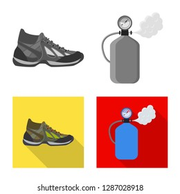 bitmap illustration of mountaineering and peak icon. Set of mountaineering and camp bitmap icon for stock.