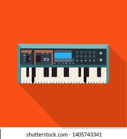 bitmap illustration of music and tune logo. Collection of music and tool stock bitmap illustration.