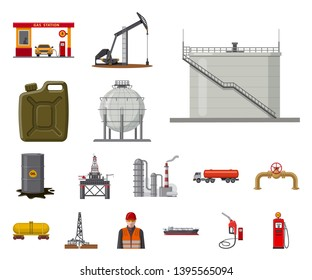 bitmap illustration of oil and gas logo. Collection of oil and petrol bitmap icon for stock.