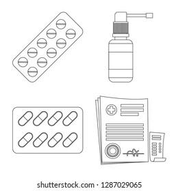 bitmap illustration of pharmacy and hospital icon. Set of pharmacy and business bitmap icon for stock.