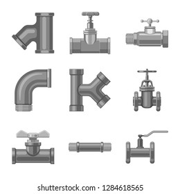 bitmap illustration of pipe and tube logo. Set of pipe and pipeline bitmap icon for stock.