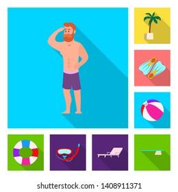 bitmap illustration of pool and swimming logo. Collection of pool and activity stock bitmap illustration.