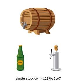 bitmap illustration of pub and bar icon. Collection of pub and interior bitmap icon for stock.