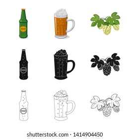 bitmap illustration of pub and bar logo. Collection of pub and interior stock bitmap illustration.