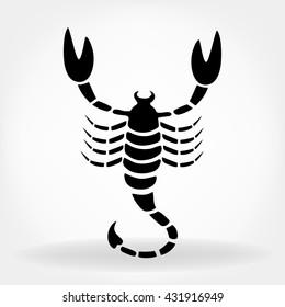 Bitmap illustration. Scorpion.