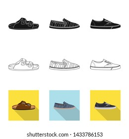 bitmap illustration of shoe and footwear symbol. Collection of shoe and foot stock bitmap illustration.