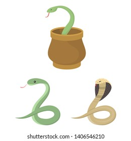 bitmap illustration of snake  and cobra  logo. Collection of snake  and tattoo stock bitmap illustration.