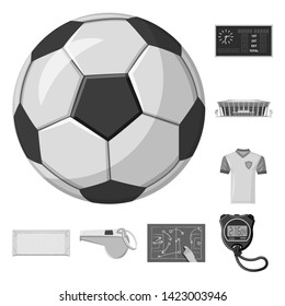 Bitmap illustration of soccer and gear icon. Collection of soccer and tournament bitmap icon for stock.