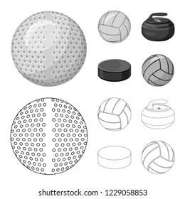bitmap illustration of sport and ball symbol. Collection of sport and athletic stock bitmap illustration.